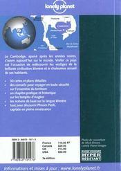 Cambodge - 4ème de couverture - Format classique