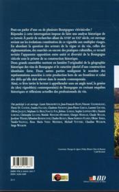 Bourgogne(s) viticole(s) ; enjeux et perspectives historiques d'un territoire - 4ème de couverture - Format classique