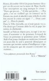 Sept Crimes De Rome - 4ème de couverture - Format classique