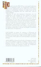 Les commissaires européens ; technocrates, diplomates ou politiques? - 4ème de couverture - Format classique