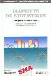 Elements De Statistiques - Intérieur - Format classique