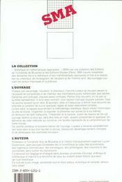 Elements De Statistiques - 4ème de couverture - Format classique
