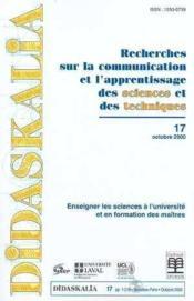 Didaskalia n.17 ; enseigner les sciences a l'universite - Couverture - Format classique