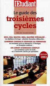 Le guide des troisièmes cycles - Couverture - Format classique