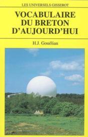 Vocabulaire Du Breton D'Aujourd'Hui - Couverture - Format classique