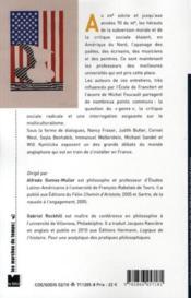 Critique et subversion dans la pensée contemporaine américaine - 4ème de couverture - Format classique