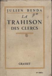 La Trahison Des Clercs. - Couverture - Format classique