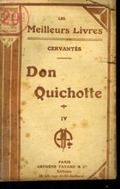 Don Quichotte. Tome 4. Collection : Les Meilleurs Livres N° 32. - Couverture - Format classique