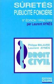 Suretes ; Publicite Fonciere - Intérieur - Format classique