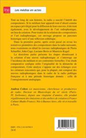 Le compositeurs et l'art radiophonique - 4ème de couverture - Format classique