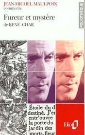 Fureur Et Mystere De Rene Char (Essai Et Dossier) - Intérieur - Format classique