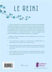 Le reiki ; les essentiels bien-être - 4ème de couverture - Format classique