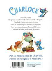 Charlock T.3 ; l'affaire du collier - 4ème de couverture - Format classique