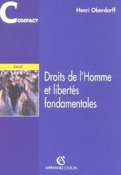 Droits De L'Homme Et Libertes Fondamentales - 1e Ed - Intérieur - Format classique