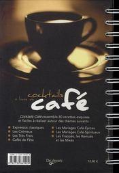 Cocktails à base de café - 4ème de couverture - Format classique