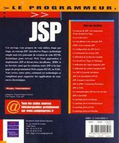Jsp - 4ème de couverture - Format classique