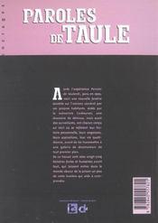 Paroles de taulards t.2 - 4ème de couverture - Format classique