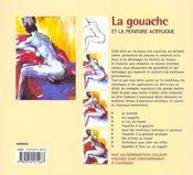 La gouache et la peinture acrylique - 4ème de couverture - Format classique