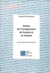 Assises De L'Enseignement Du Francais Et En Francais - Couverture - Format classique