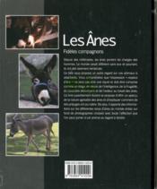 Les ânes ; fidèles compagnons - 4ème de couverture - Format classique