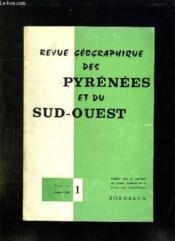 Revue Geographique Des Pyrenees Et Du Sud Ouest Tome 51. Volume 1. Janvier 1980. - Couverture - Format classique