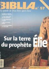 Sur La Terre Du Prophete Elie Bib57 - Couverture - Format classique