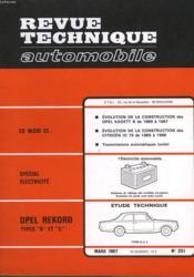 Revue Technique Automobile - N°251 - Couverture - Format classique