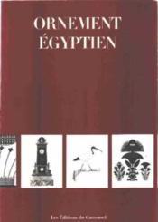 Les Ornements Egyptiens - Couverture - Format classique