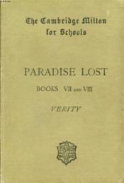 Paradise Lost, Books Vii And Viii - Couverture - Format classique