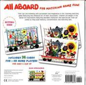 All Aboard Train Matching Game - 4ème de couverture - Format classique
