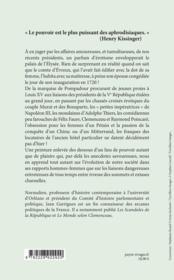 Une histoire érotique de l'Elysée ; de la Pompadour aux paparazzi - 4ème de couverture - Format classique