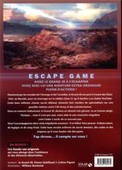 Escape game ; rencontre en zone 51 - 4ème de couverture - Format classique