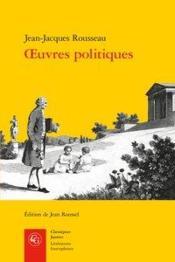 Oeuvres politiques - Couverture - Format classique