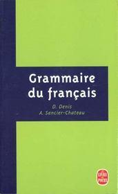 Grammaire du francais - Intérieur - Format classique
