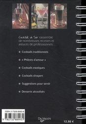 Cocktails du soir - 4ème de couverture - Format classique