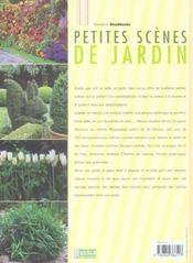 Petites scenes de jardin - 4ème de couverture - Format classique