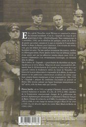 Aux racines du mal ; 1918, le déni de la défaite - 4ème de couverture - Format classique