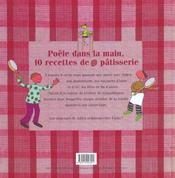 Poêle dans la main ; recettes de pâtisserie romancées et illustrées - 4ème de couverture - Format classique