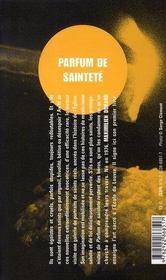 Parfum De Saintete - 4ème de couverture - Format classique