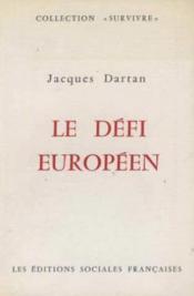 Le defi europeen - Couverture - Format classique