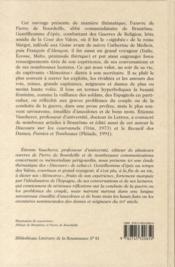 Brantôme ; mémorialiste et conteur - 4ème de couverture - Format classique