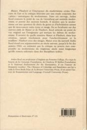 Manet, Flaubert et l'émergence du modernisme - 4ème de couverture - Format classique