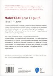 Manifeste pour l'égalité - 4ème de couverture - Format classique