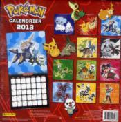 Calendrier Pokémon 2013 - 4ème de couverture - Format classique