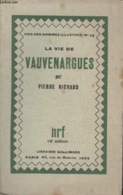 Collection Vies Des Hommes Illustres N° 43. La Vie De Vauvenargues. - Couverture - Format classique