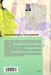 Phytonutrition Et Phytotherapie - 4ème de couverture - Format classique
