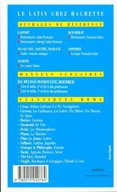 Les mots latins - 4ème de couverture - Format classique