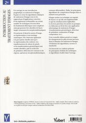 Introduction au traitement d'images (2e édition) - 4ème de couverture - Format classique