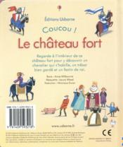 COUCOU ! ; le château fort - 4ème de couverture - Format classique