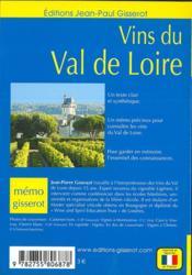 Les vins de Loire - 4ème de couverture - Format classique